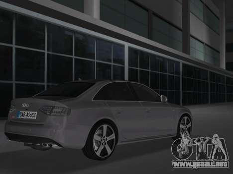 Audi S4 (B8) 2010 - Metallischen para GTA Vice City vista lateral izquierdo
