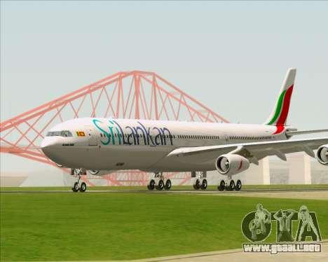 Airbus A340-313 SriLankan Airlines para GTA San Andreas left