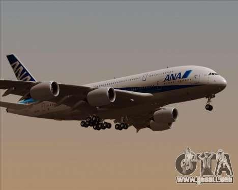 Airbus A380-800 All Nippon Airways (ANA) para la visión correcta GTA San Andreas