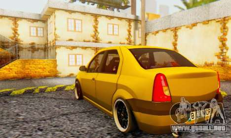 Dacia Logan MOR para GTA San Andreas vista hacia atrás