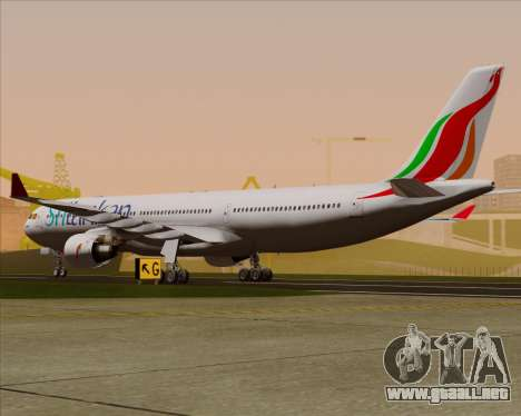 Airbus A330-300 SriLankan Airlines para la visión correcta GTA San Andreas
