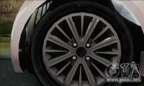 Aston Martin Cygnet para GTA San Andreas vista posterior izquierda