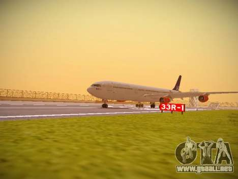 Airbus A340-300 Scandinavian Airlines para GTA San Andreas left