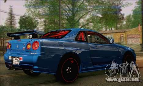 Nissan Skyline GTR34 para GTA San Andreas left