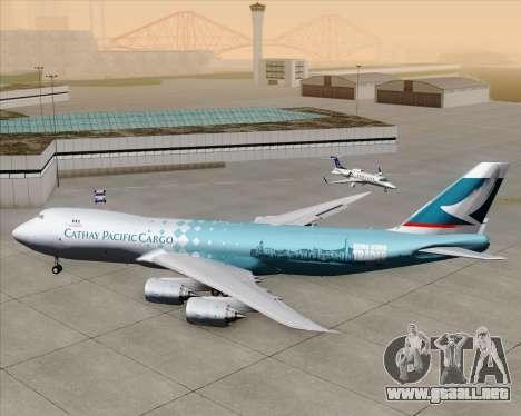 Boeing 747-8 Cargo Cathay Pacific Cargo para la vista superior GTA San Andreas