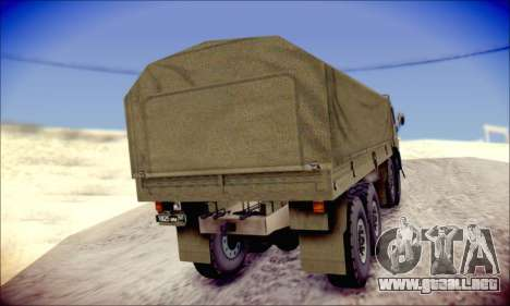 El KamAZ-6350 (APT) para GTA San Andreas vista hacia atrás