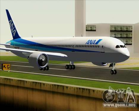 Boeing 787-9 All Nippon Airways para GTA San Andreas vista posterior izquierda