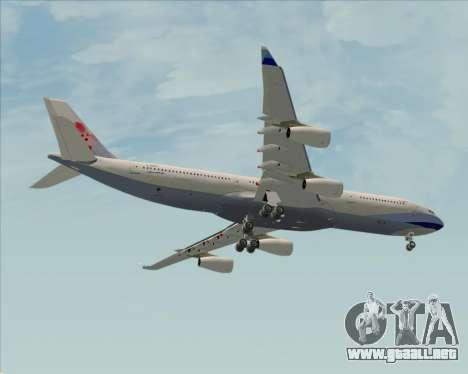 Airbus A340-313 China Airlines para visión interna GTA San Andreas