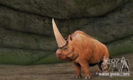 Elasmotherium (Extinct Mammal) para GTA San Andreas tercera pantalla