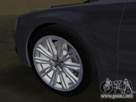 Audi A8 2010 W12 Rim1 para GTA Vice City interior