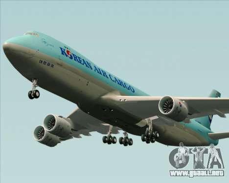 Boeing 747-8 Cargo Korean Air Cargo para visión interna GTA San Andreas
