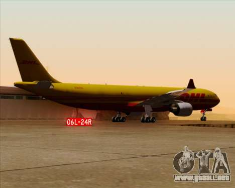 Airbus A330-300P2F DHL para vista inferior GTA San Andreas