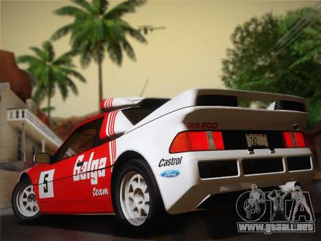 Ford RS200 Evolution 1985 para la visión correcta GTA San Andreas