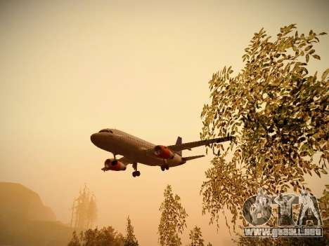 Airbus A319-132 Scandinavian Airlines para vista inferior GTA San Andreas