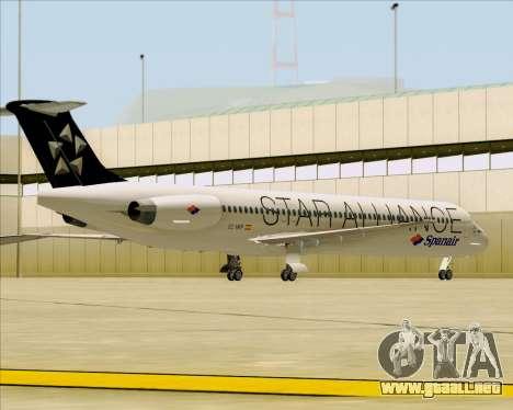 McDonnell Douglas MD-82 Spanair para vista inferior GTA San Andreas