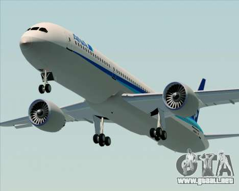 Boeing 787-9 All Nippon Airways para visión interna GTA San Andreas