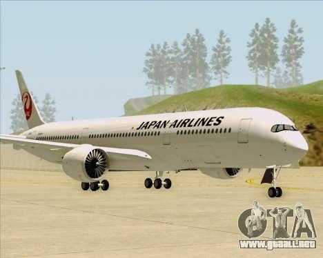 Airbus A350-941 Japan Airlines para GTA San Andreas left