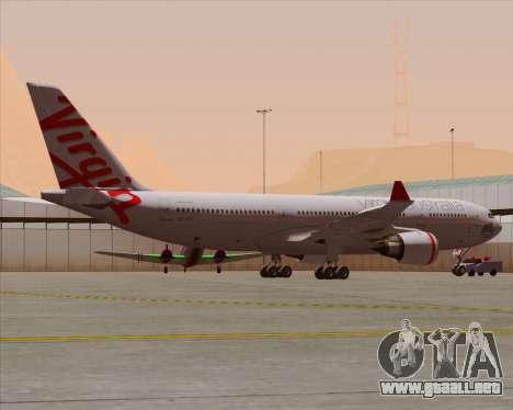 Airbus A330-200 Virgin Australia para las ruedas de GTA San Andreas