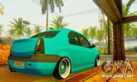 Dacia Logan Elegant para GTA San Andreas vista posterior izquierda