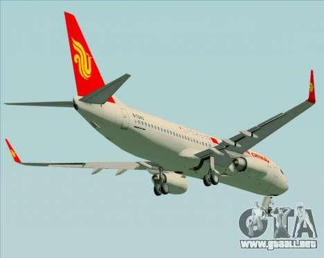 Boeing 737-89L Air China para visión interna GTA San Andreas