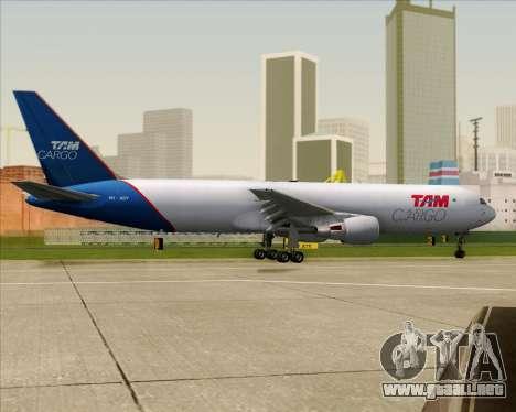 Boeing 767-300ER F TAM Cargo para la vista superior GTA San Andreas