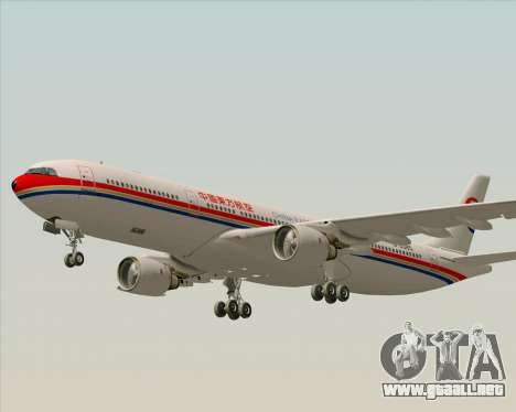 Airbus A330-300 China Eastern Airlines para la vista superior GTA San Andreas