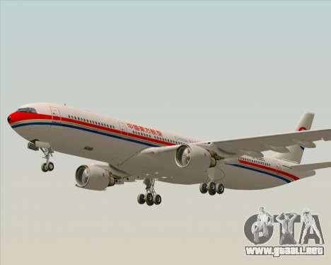 Airbus A330-300 China Eastern Airlines para la vista superior GTA San Andreas
