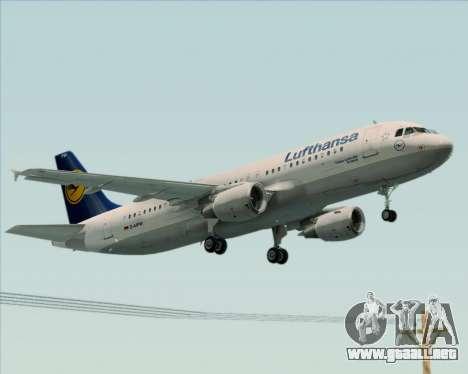 Airbus A320-211 Lufthansa para GTA San Andreas vista hacia atrás