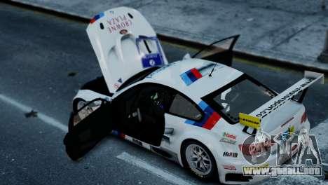 BMW M3 GT2 para GTA 4 Vista posterior izquierda