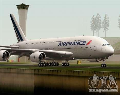 Airbus A380-861 Air France para la visión correcta GTA San Andreas