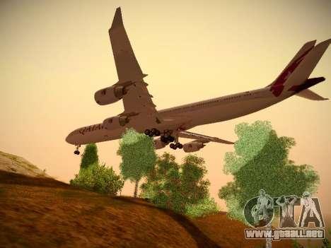 Airbus A340-600 Qatar Airways para GTA San Andreas vista hacia atrás