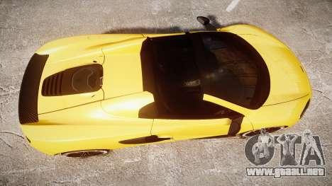 McLaren 650S Spider 2014 [EPM] Michelin v4 para GTA 4 visión correcta