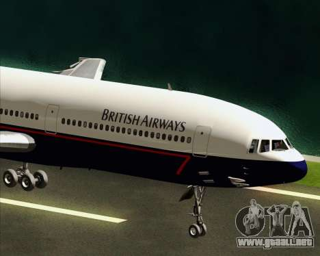 Lockheed L-1011 TriStar British Airways para visión interna GTA San Andreas