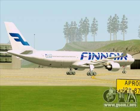 Airbus A330-300 Finnair (Current Livery) para la visión correcta GTA San Andreas