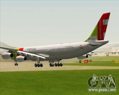 Airbus A340-312 TAP Portugal para GTA San Andreas vista posterior izquierda
