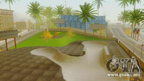 La textura de la pista de patinaje y un hospital para GTA San Andreas quinta pantalla
