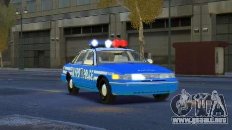 Ford Crown Victoria 1994 NYPD para GTA 4