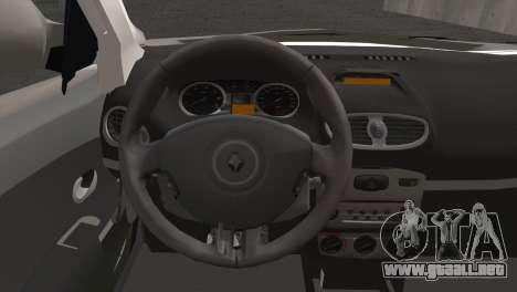 Renault Symbol 2009 para GTA San Andreas vista posterior izquierda