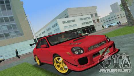 Subaru Impreza WRX 2002 Type 4 para GTA Vice City left