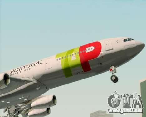 Airbus A340-312 TAP Portugal para las ruedas de GTA San Andreas