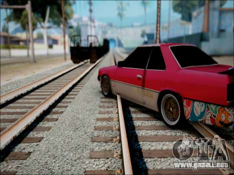 Nissan Skyline GT-R R30 para GTA San Andreas vista hacia atrás