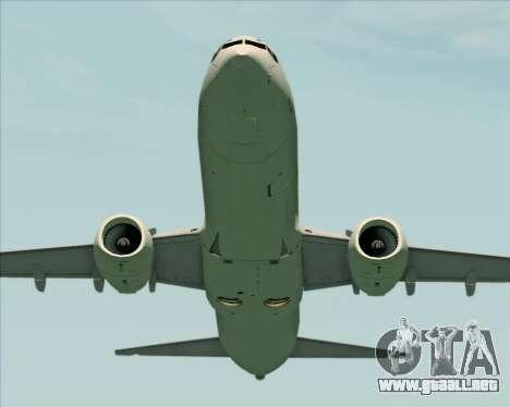 Boeing 737-89L Air China para vista inferior GTA San Andreas