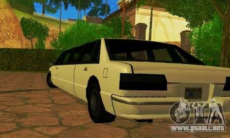 Premier Limousine para GTA San Andreas vista posterior izquierda
