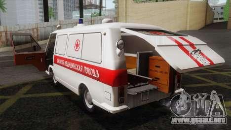 RAF 22031 Letonia - Ambulancia para vista lateral GTA San Andreas