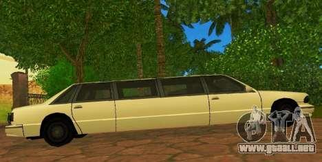 Premier Limousine para GTA San Andreas left