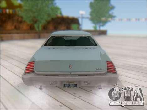Chevrolet Monte Carlo 1973 para GTA San Andreas vista hacia atrás