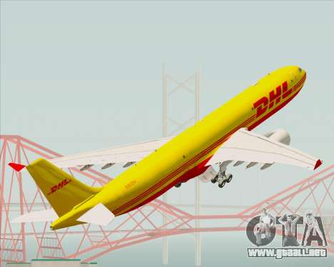 Airbus A330-300P2F DHL para las ruedas de GTA San Andreas