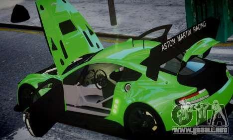 Aston Martin Vantage GTE para GTA 4 visión correcta