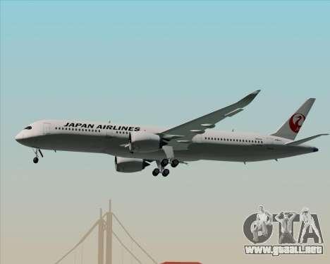 Airbus A350-941 Japan Airlines para las ruedas de GTA San Andreas