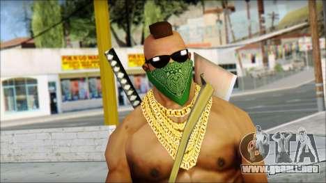 MR T Skin v11 para GTA San Andreas tercera pantalla